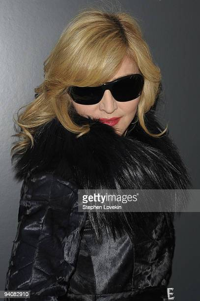 Singer Madonna attends a special screening of A Single Man hosted by The Cinema Society and Bing at MOMA on December 6 2009 in New York City