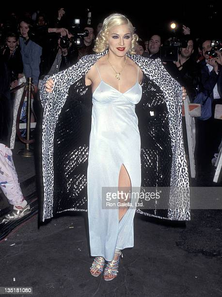 """Singer Madonna attends MTV's """"Madonna's Bedtime Story Pajama Party"""" to Screen Madonna's New Music Video """"Bedtime Story"""" on March 18, 1995 at Webster..."""