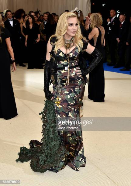 """Singer Madonna attends """"Rei Kawakubo/Comme des Garcons: Art Of The In-Between"""" Costume Institute Gala at Metropolitan Museum of Art on May 1, 2017 in..."""