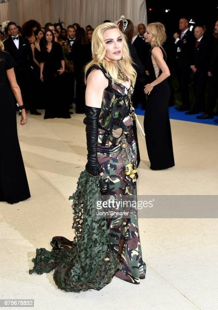 Singer Madonna attends Rei Kawakubo/Comme des Garcons Art Of The InBetween Costume Institute Gala at Metropolitan Museum of Art on May 1 2017 in New...
