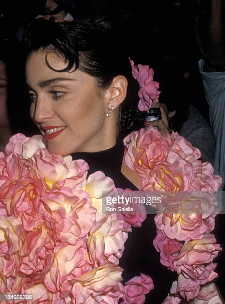 Singer Madonna attends the 42nd Annual Tony Awards After Party on June 5 1988 at Sardi's Restaurant in New York City