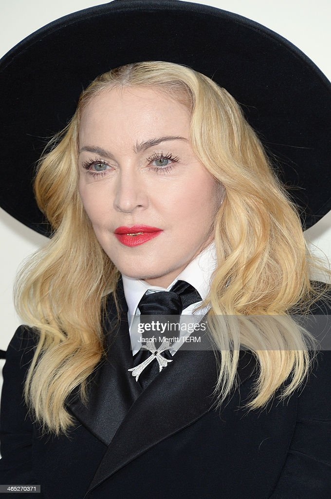 Singer Madonna attends the 56th GRAMMY Awards at Staples Center on January 26, 2014 in Los Angeles, California.