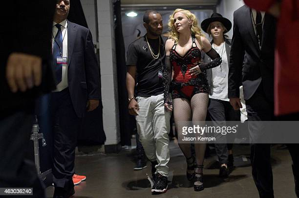 Singer Madonna attends The 57th Annual GRAMMY Awards at STAPLES Center on February 8 2015 in Los Angeles California