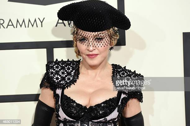 Singer Madonna attends The 57th Annual GRAMMY Awards at the STAPLES Center on February 8 2015 in Los Angeles California