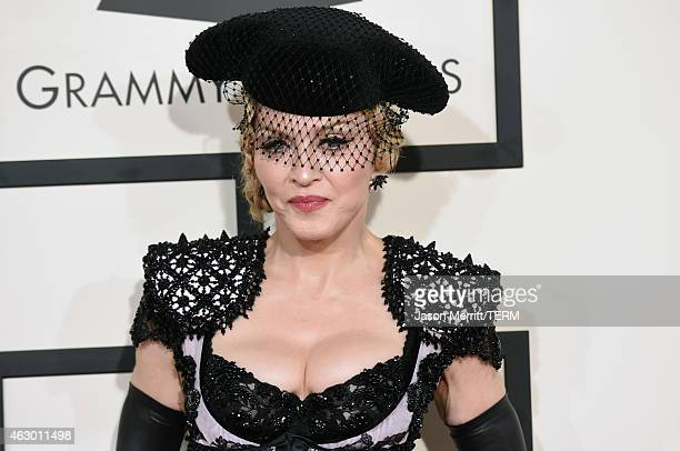 Singer Madonna attends The 57th Annual GRAMMY Awards at the STAPLES Center on February 8, 2015 in Los Angeles, California.