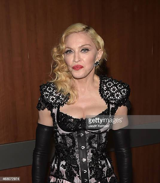 Singer Madonna attends the 57th Annual GRAMMY Awards Backstage at The Staples Center on February 8 2015 in Los Angeles California