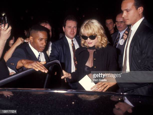 Singer Madonna attends the 'A League of Their Own' New York City Premiere on June 25 1992 at the Ziegfeld Theater in New York City