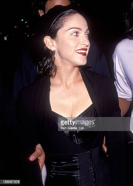 Singer Madonna attends the Herb Ritts' 39th Birthday Party on August 10 1991 at a converted warehouse in Culver City California