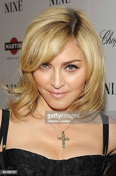Singer Madonna attends the New York premiere of NINE at the Ziegfeld Theatre on December 15 2009 in New York City
