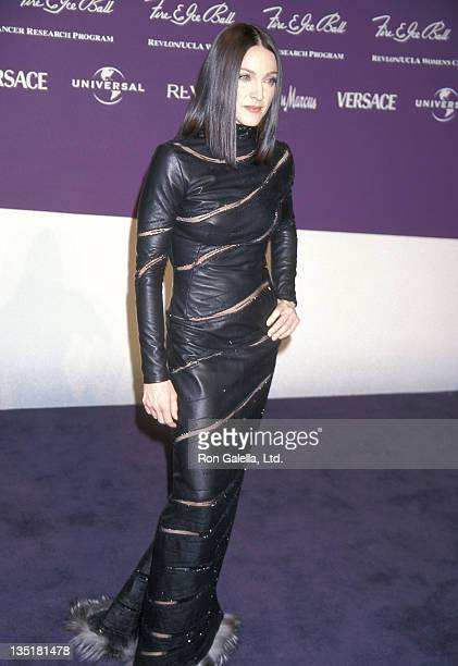 Singer Madonna attends the Ninth Annual Fire Ice Ball to Benefit Revlon/UCLA Women's Cancer Research Program on December 9 1998 at Universal Studios...