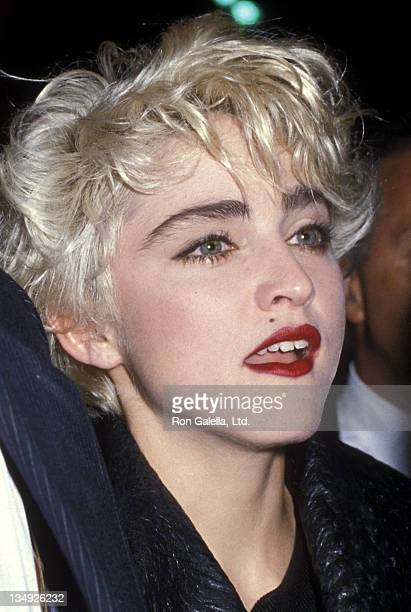 """Singer Madonna attends the Second Annual """"Commitment to Life"""" Gala to Benefit AIDS Project Los Angeles on September 20, 1986 at the Wiltern Theatre..."""