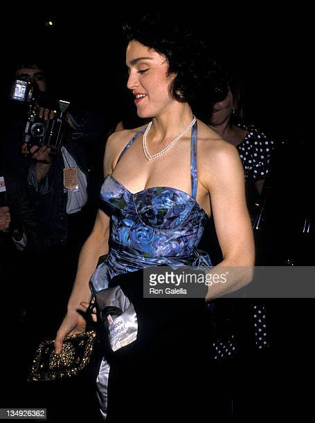 Singer Madonna attends the 'SpeedthePlow' Broadway Play Opening Night Performance on May 3 1988 at the Royale Theatre in New York City