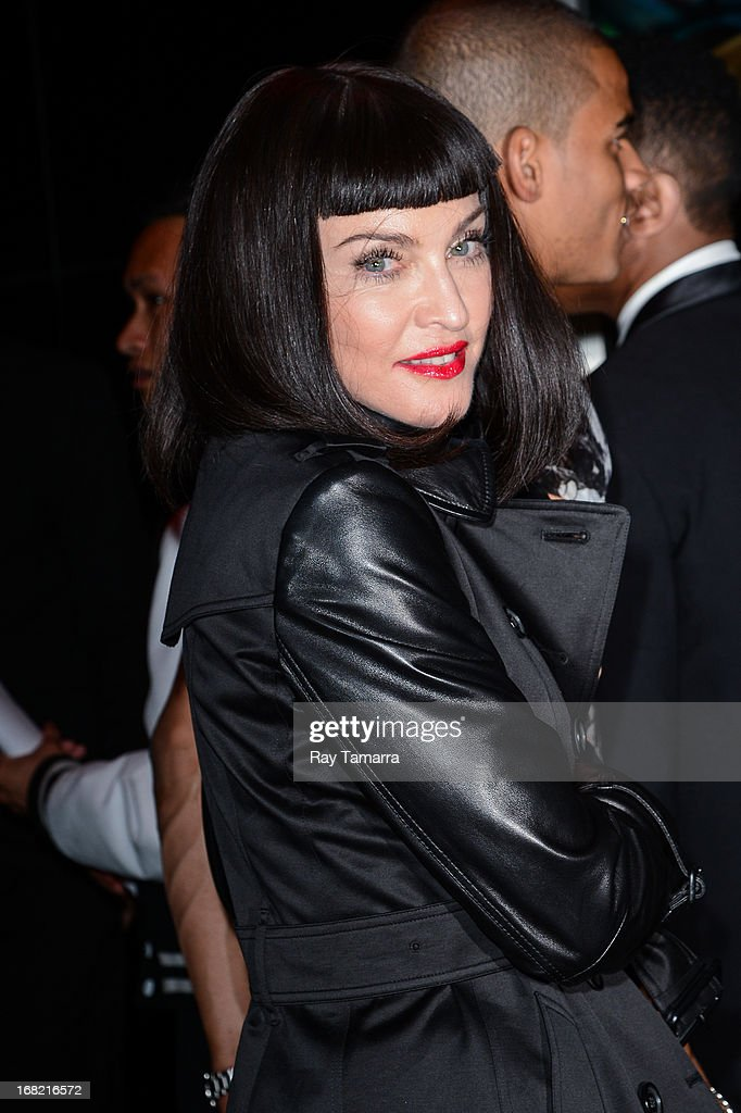 Singer Madonna enters the 'PUNK: Chaos To Couture' Costume Institute Gala after party at the Standard Hotel on May 6, 2013 in New York City.