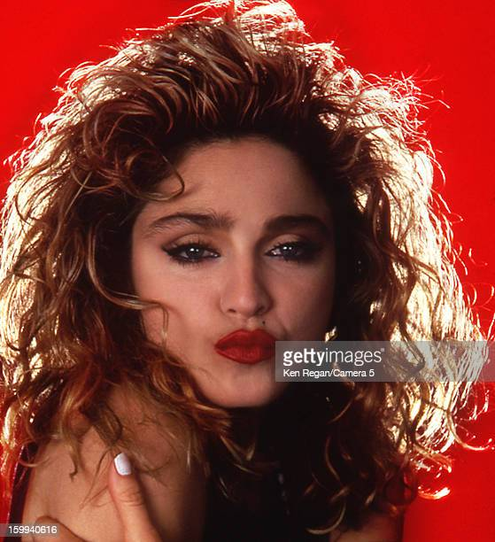 Singer Madonna is photographed for People Magazine in 1985 in New York City COVER IMAGE CREDIT MUST READ Ken Regan/Camera 5 via Contour by Getty...