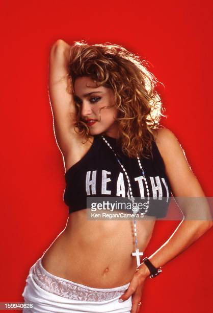 Singer Madonna is photographed for People Magazine in 1985 in New York City PUBLISHED IMAGE CREDIT MUST READ Ken Regan/Camera 5 via Contour by Getty...