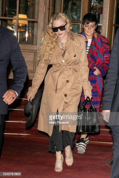Singer Madonna is seen on September 30 2018 in Paris France