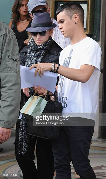 Singer Madonna is sighted on location for the film 'WE'on August 1 2010 in Paris France