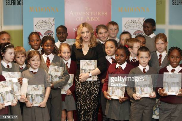 Singer Madonna launches her latest illustrated children's book 'The Adventures Of Abdi' at Selfridges November 11 2004 in London The book is the...