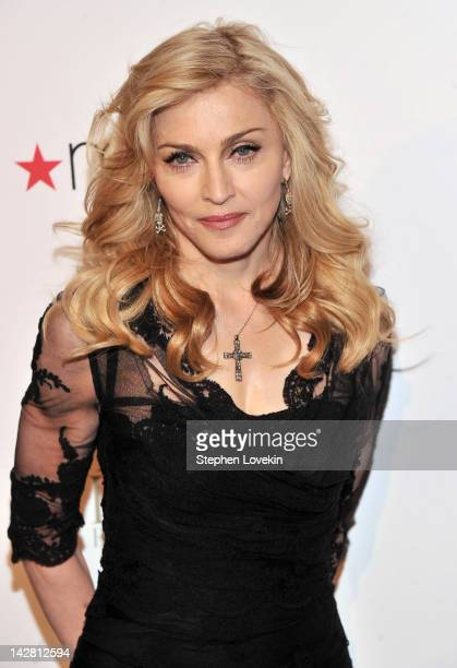 Singer Madonna Launches Her Signature Fragrance Truth Or Dare By Madonna Macy's Herald Square on April 12 2012 in New York City