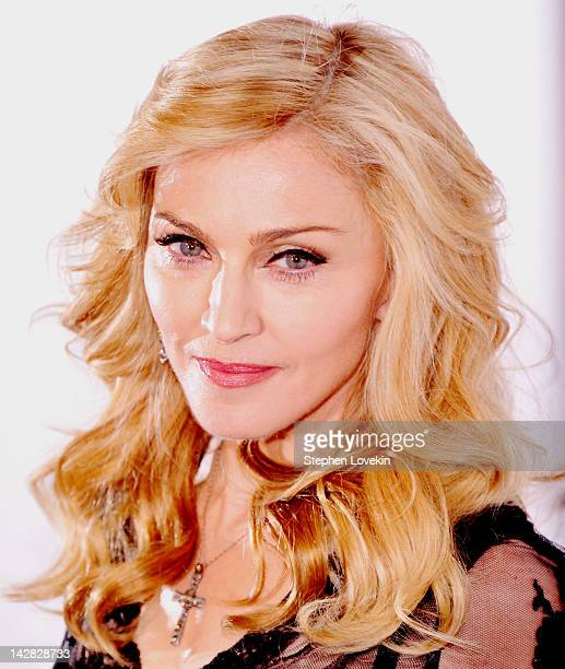 """Singer Madonna Launches Her Signature Fragrance """"Truth Or Dare"""" By Madonna Macy's Herald Square on April 12, 2012 in New York City."""