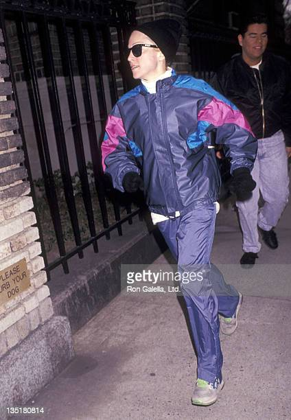 Singer Madonna on March 6 1992 goes for a jog around New York City