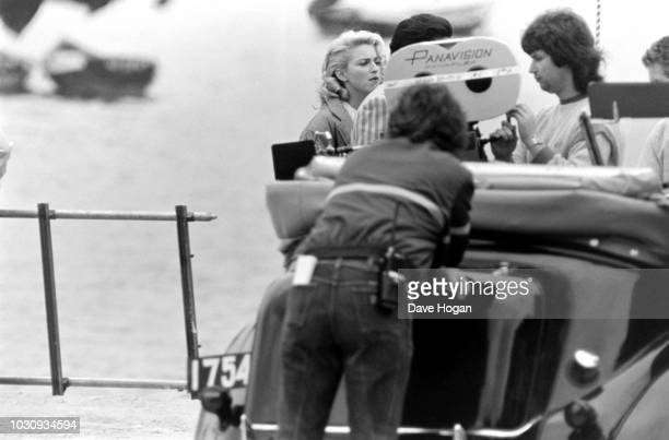 Singer Madonna on the set of the film 'Shanghai Surprise' Hong Kong February 12th 1986