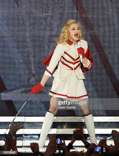 Singer Madonna performs at Sprint Center on October 30 2012 in Kansas City Missouri