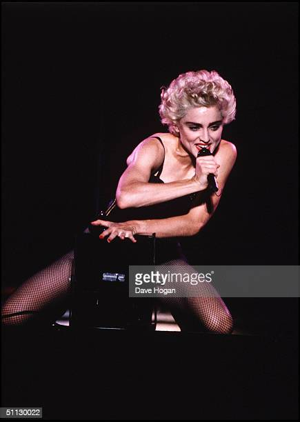 Singer Madonna performs on stage