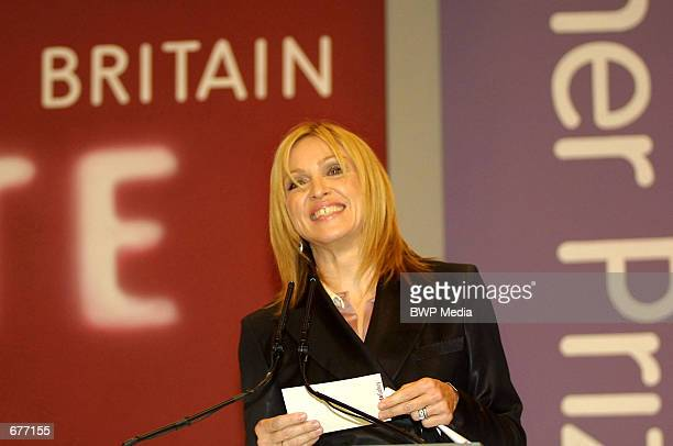 Singer Madonna speaks during the Turner Prize awards ceremony December 9 2001 in London England Madonna cursed during the live television broadcast...