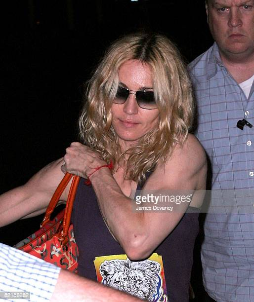 Singer Madonna visits the Kabbalah Center in Manhattan on August 1 2008 in New York City
