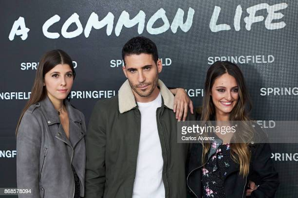 Singer Mafalda Cecilia SajoniaCoburgo Nadal actor Miguel Angel Silvestre and actress Andrea Molina launch 'A Common Life' new Springfield campaign at...