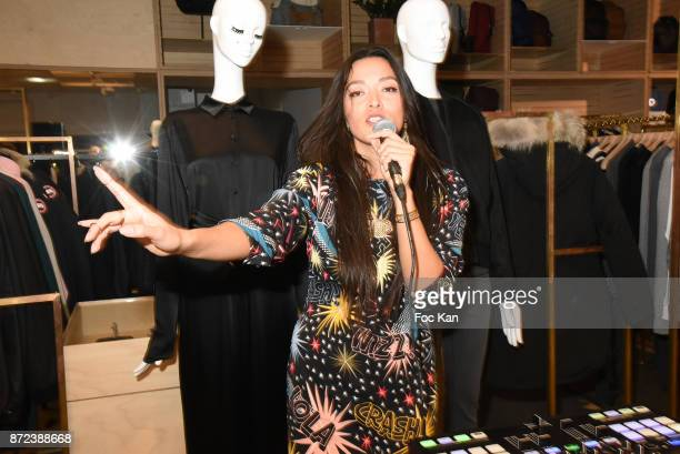 Singer Mai Lan Chapiron performs during Stephane Kelian Pop Up Store Launch at L'Exception on November 9 2017 in Paris France