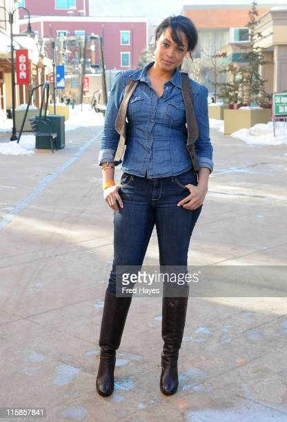 Singer Maisha poses at the ASCAP Music Cafe during the 2009 Sundance Film Festival on January 19 2009 in Park City Utah