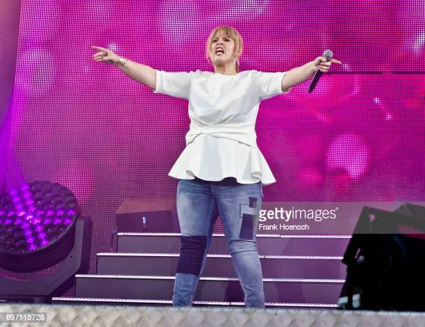 Singer Maite Kelly performs live during the show 'Die Schlagernacht des Jahres' at the Waldbuehne on June 17, 2017 in Berlin, Germany.