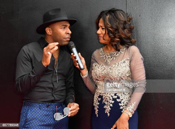 Singer Major and Cheryl Jackson arrive at the 32nd annual Stellar Gospel Music Awards at the Orleans Arena on March 25, 2017 in Las Vegas, Nevada.