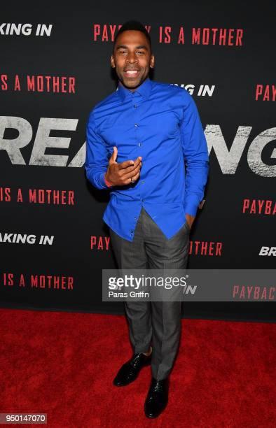 Singer Major attends Breaking In Atlanta Private Screening at Regal Atlantic Station on April 22 2018 in Atlanta Georgia