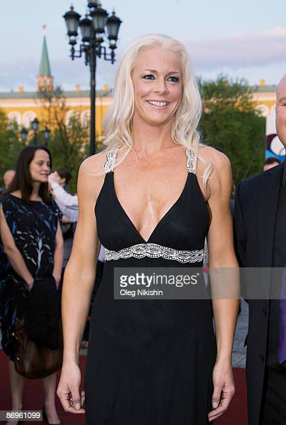 Singer Malena Ernman of Sweden attends the official opening of the Eurovision Song Contest 2009 on May 10 2009 in the Manezh near Kremlin in Moscow...