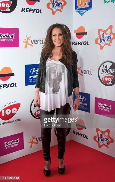 Singer Malu arrives to 'La Noche de Cadena 100' at the Palacio de los Deportes on April 2 2011 in Madrid Spain