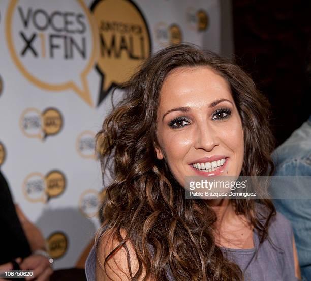 Singer Malu attends 'Juntos por Mali' Press Conference at Caixa Forum on November 11 2010 in Madrid Spain