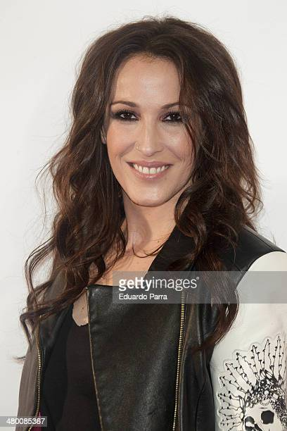 Singer Malu attends 'La noche de Cadena 100' photocall at sports Palace on March 22 2014 in Madrid Spain
