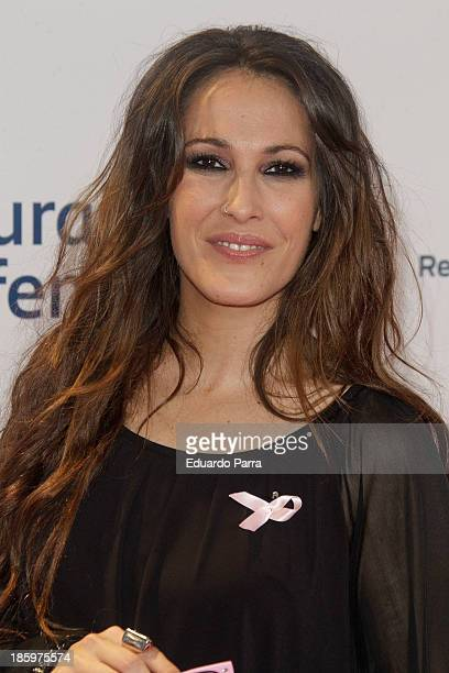 Singer Malu attends 'Por ellas' concert photocall at Madrid sports palace on October 26 2013 in Madrid Spain