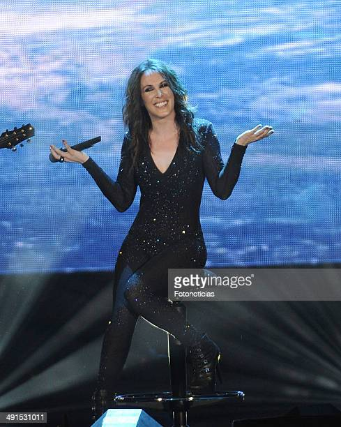 Singer Malu performs at the Palacio de los Deportes on May 16 2014 in Madrid Spain