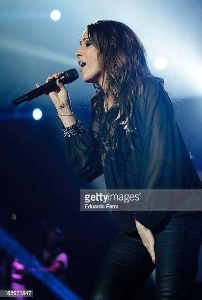 Singer Malu performs live in 'Por Ellas' concert at Madrid sports palace on October 26 2013 in Madrid Spain