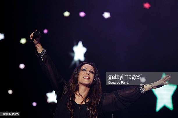 Singer Malu performs live in 'Por Ellas' concert at Madrid sports palace on October 26 2013 in Madrid Spain