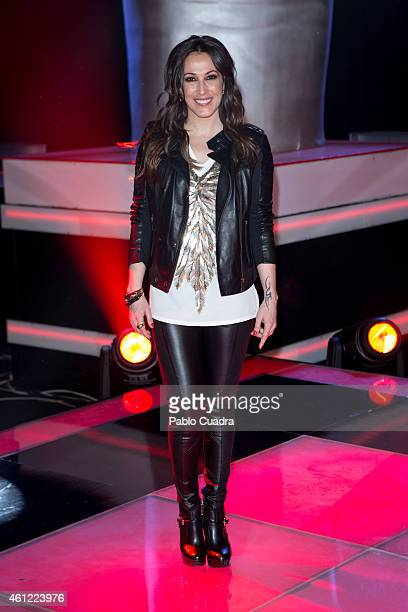 Singer Malu poses during a photocall to present the new season of 'La Voz' at 'Picasso' studios on January 9 2015 in Madrid Spain