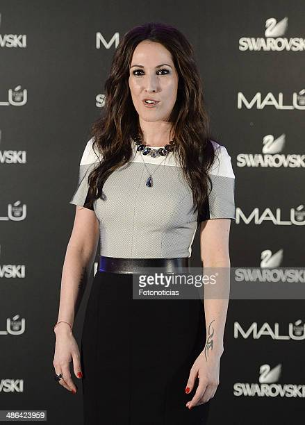 Singer Malu presents her spanish 'Tour SI' at Oui Mad on April 24 2014 in Madrid Spain