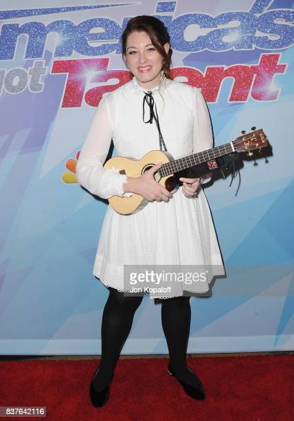 Singer Mandy Harvey arrives at NBC's 'America's Got Talent' Season 12 Live Show at Dolby Theatre on August 22 2017 in Hollywood California