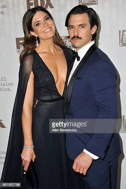 Singer Mandy Moore and actor Milo Ventimiglia attend FOX and FX's 2017 Golden Globe Awards After Party at The Beverly Hilton Hotel on January 8 2017...