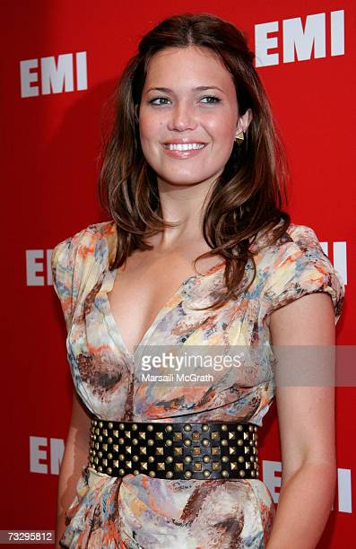 Singer Mandy Moore arrives at the EMI/Capitol Records Grammy party held at Boulevard3 on February 11 2007 in Hollywood California