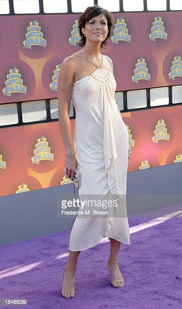 Singer Mandy Moore attends the 2002 MTV Movie Awards at The Shrine Auditorium June 1 2002 in Los Angeles CA